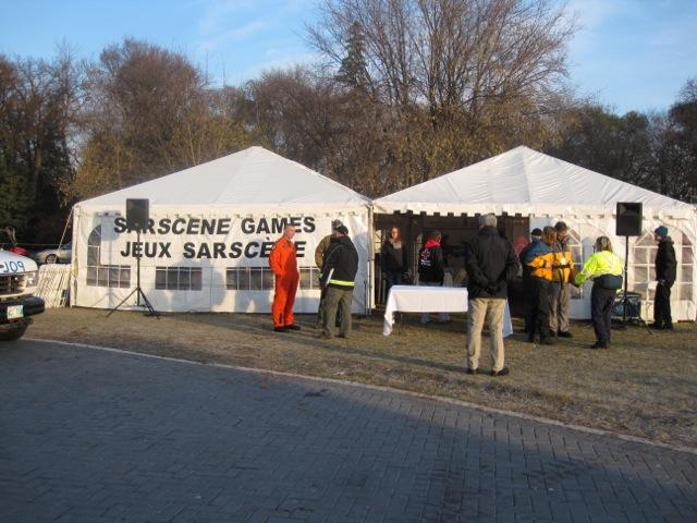 Registration Tent, SAR Games, SARScene, Oct. 2011