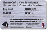 Sample PCOC Card